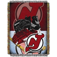 "New Jersey Devils NHL Woven Tapestry Throw (Home Ice Advantage) (48x60"")"""