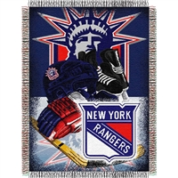 "New York Rangers NHL Woven Tapestry Throw (Home Ice Advantage) (48x60"")"""