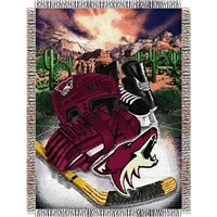 "Phoenix Coyotes NHL Woven Tapestry Throw (Home Ice Advantage) (48x60"")"""