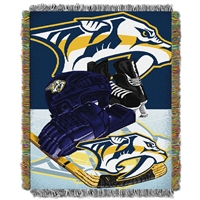 Nashville Predators NHL Woven Tapestry Throw (Home Ice Advantage) (48x60)