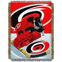 "Carolina Hurricanes NHL Woven Tapestry Throw Blanket (Home Ice Advantage) (48x60"")"""