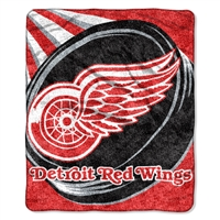 "Detroit Red Wings NHL Sherpa Throw (Puck Series) (50x60"")"""
