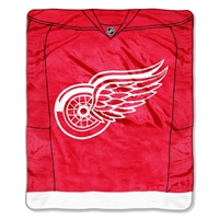 "Detroit Red Wings NHL Royal Plush Raschel Blanket (Jersey Series) (50x60"")"""