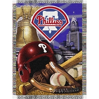 "Philadelphia Phillies MLB Woven Tapestry Throw (Home Field Advantage) (48x60"")"""