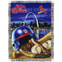 "Saint Louis Cardinals MLB Woven Tapestry Throw (Home Field Advantage) (48x60"")"""