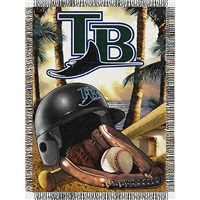 "Tampa Bay Devil Rays MLB Woven Tapestry Throw (Home Field Advantage) (48x60"")"""