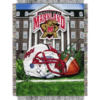 "Maryland Terps NCAA Woven Tapestry Throw (Home Field Advantage) (48x60"")"""