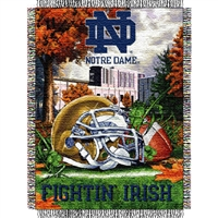 "Notre Dame Irish NCAA Woven Tapestry Throw (Home Field Advantage) (48x60"")"""