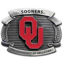 Oklahoma Sooners College Oversized Belt Buckle