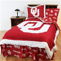 Oklahoma (OU) Sooners Bed in a Bag Queen - With Team Colored Sheets