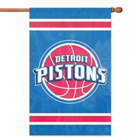 Detroit Pistons NBA Appliqué Banner Flag