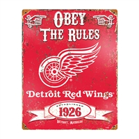 Detroit Red Wings NHL Vintage Metal Sign (11.5in x 14.5in)