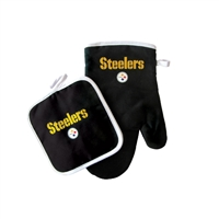 Pittsburgh Steelers NFL Oven Mitt and Pot Holder Set