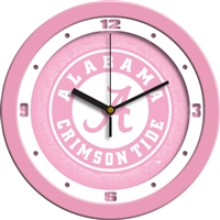 "Alabama Crimson Tide 12"" Wall Clock - Pink"