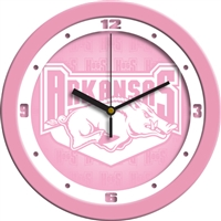 "Arkansas Razorbacks 12"" Wall Clock - Pink"