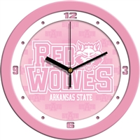 "Arkansas State Red Wolves 12"" Wall Clock - Pink"