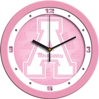 "Appalachian State Mountaineers 12"" Wall Clock - Pink"