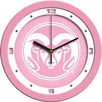 "Colorado State Rams 12"" Wall Clock - Pink"