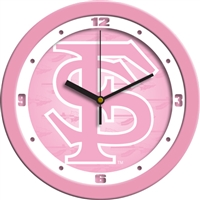 "Florida State Seminoles 12"" Wall Clock - Pink"