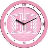 "Hawaii Warriors 12"" Wall Clock - Pink"