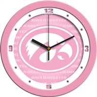 "Iowa Hawkeyes 12"" Wall Clock - Pink"