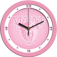 "Maine Black Bears 12"" Wall Clock - Pink"