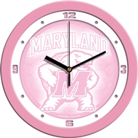 "Maryland Terrapins 12"" Wall Clock - Pink"