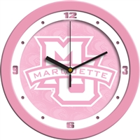 "Marquette Golden Eagles 12"" Wall Clock - Pink"