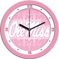 "Ole Miss Rebels 12"" Wall Clock - Pink"