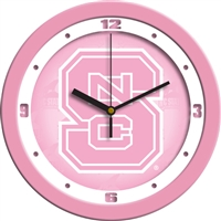 "North Carolina State Wolfpack 12"" Wall Clock - Pink"
