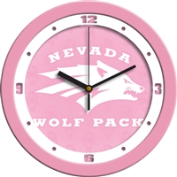 "Nevada Wolfpack 12"" Wall Clock - Pink"