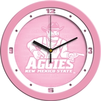 "New Mexico State (NMSU) Aggies 12"" Wall Clock - Pink"
