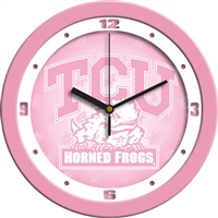"Texas Christian Horned Frogs 12"" Wall Clock - Pink"