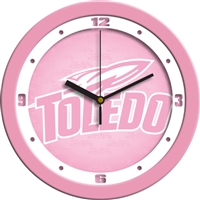 "Toledo Rockets 12"" Wall Clock - Pink"