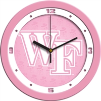 "Wake Forest Demon Deacons 12"" Wall Clock - Pink"