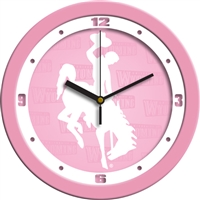 "Wyoming Cowboys 12"" Wall Clock - Pink"