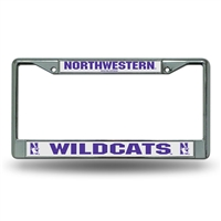 Northwestern Wildcats NCAA Chrome License Plate Frame