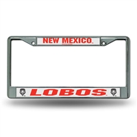 New Mexico Lobos NCAA Chrome License Plate Frame