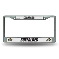 Colorado Golden Buffaloes NCAA Chrome License Plate Frame