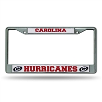 Carolina Hurricanes NHL Chrome License Plate Frame