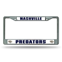 Nashville Predators NHL Chrome License Plate Frame