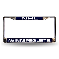 Winnipeg Jets NHL Laser Chrome Frame