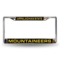 Appalachian State Mountaineers NCAA Laser Chrome License Plate Frame