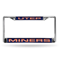 UTEP Miners NCAA Chrome Laser Cut License Plate Frame