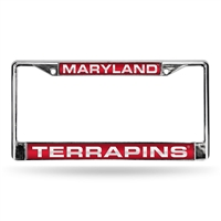 Maryland Terps NCAA Laser Chrome Frame