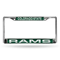 Colorado State Rams NCAA Laser Chrome License Plate Frame