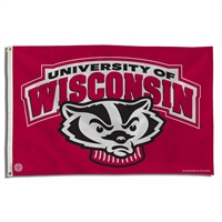 Wisconsin Badgers NCAA 3x5 Flag