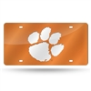 Clemson Tigers NCAA Laser Cut License Plate Cover Colored