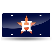 Houston Astros MLB Laser Cut License Plate Tag