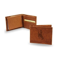 Wyoming Cowboys NCAA Embossed Leather Billfold